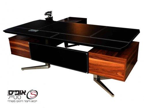 שולחן מנהל מפואר דגם טוסקנה בשילוב עץ